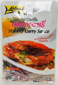 Woksaus curry 44ml. LOBO ผัดผงกะหรี่
