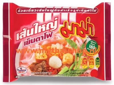 nstant flat noodles Yentafo